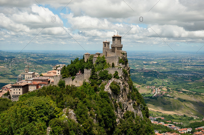 Guaita Fortress on a hilltop in San Marino