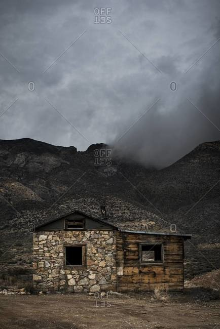 Abandoned cabin in the Nevada desert