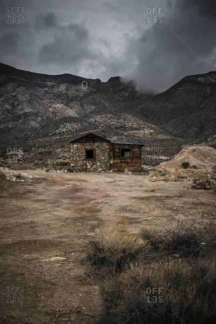 Abandoned desert cabin in Nevada