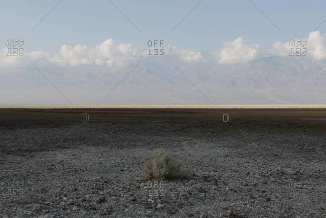 View of Badwater Basin in Death Valley, California