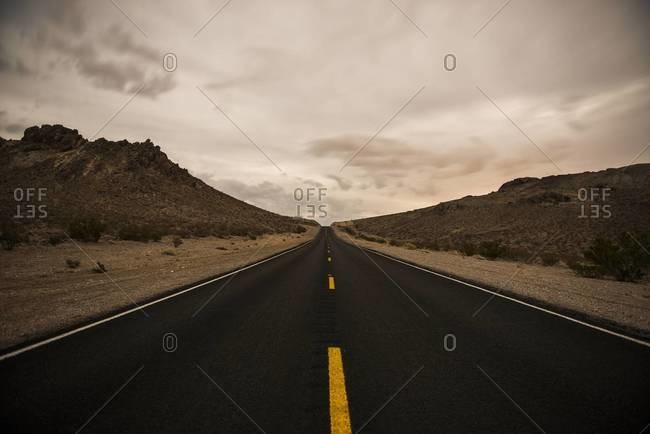 Highway in Death Valley, California
