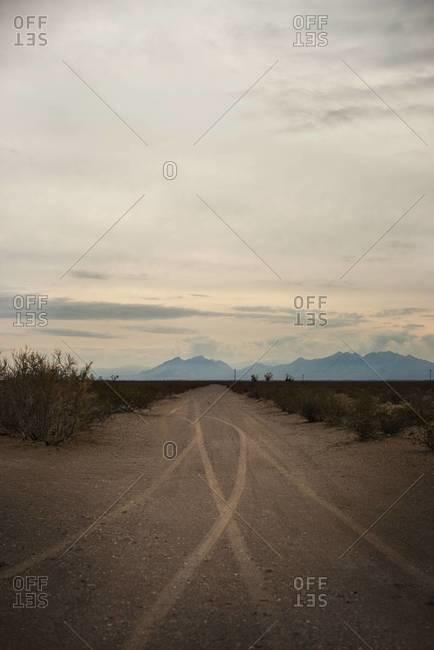 Dirt road in Pahrump, Nevada