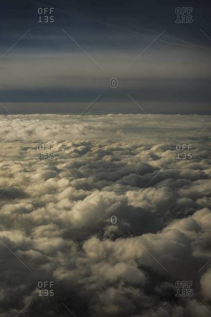 View of clouds from an airplane