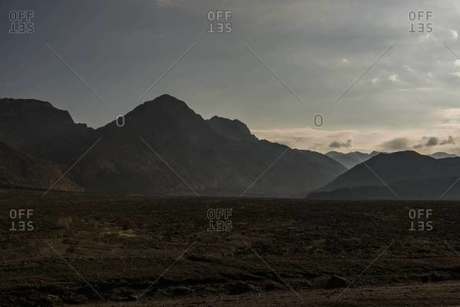 Landscape in morning light in Death Valley, California