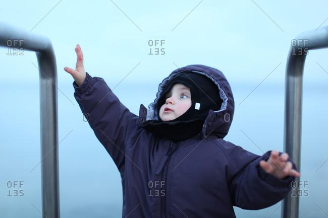 Toddler girl on playground