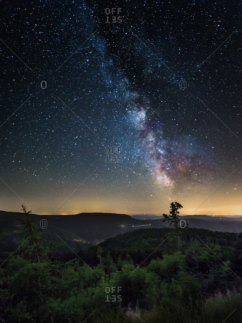 Milky Way over the Black Forest, Germany
