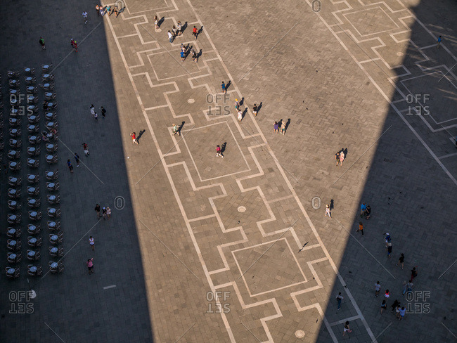 Square in Venice, Italy from above