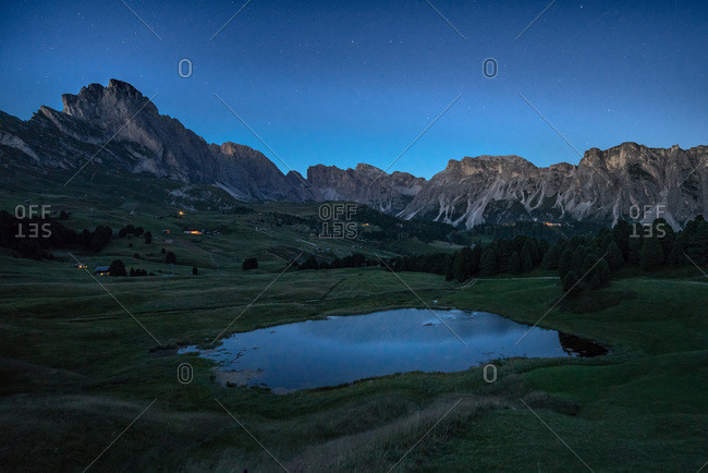 Lake and village in the Italian Alps
