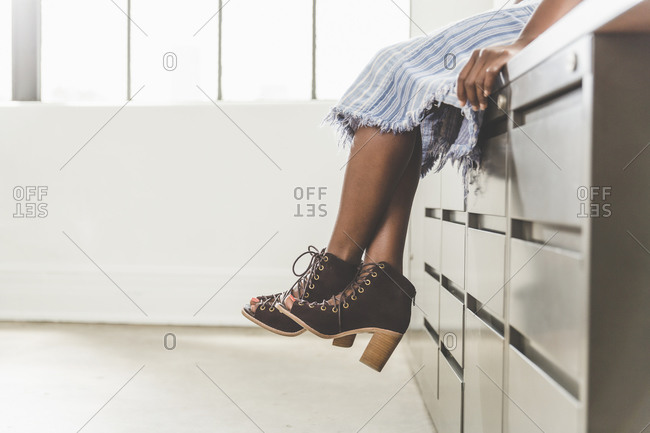 Stylish footwear of an office worker