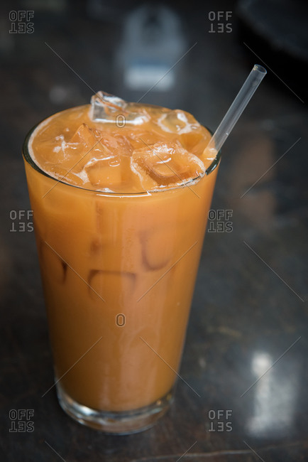 Iced coffee on a table