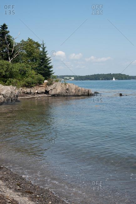 Shoreline of Basket Island, Maine