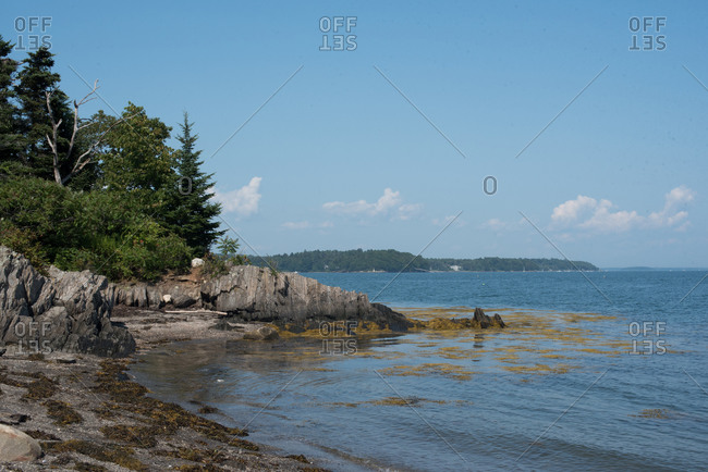 Rocky beach at Basket Island, Maine
