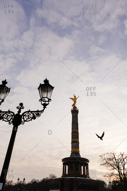 Victory Column at sunset in Berlin
