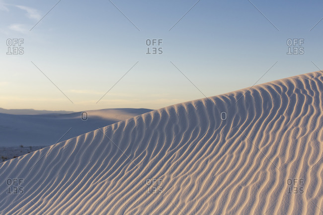 Ripples in the dunes at White Sands National Monument, New Mexico
