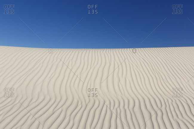Detail of dunes in White Sands, New Mexico