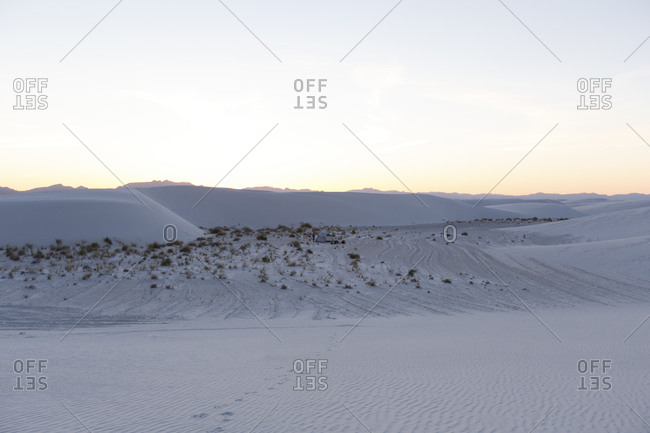 Camping in White Sands, New Mexico