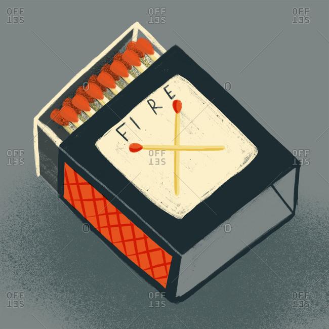 Illustration of a matchbox