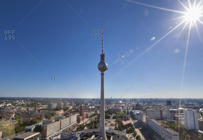 Berlin, Germany - July 21, 2015: Berlin TV Tower