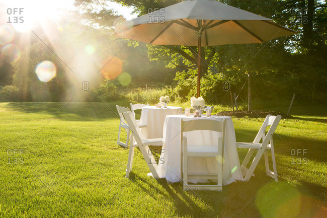 Garden party tables and chairs in Kent, Connecticut