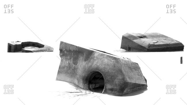 Sunken concrete structures
