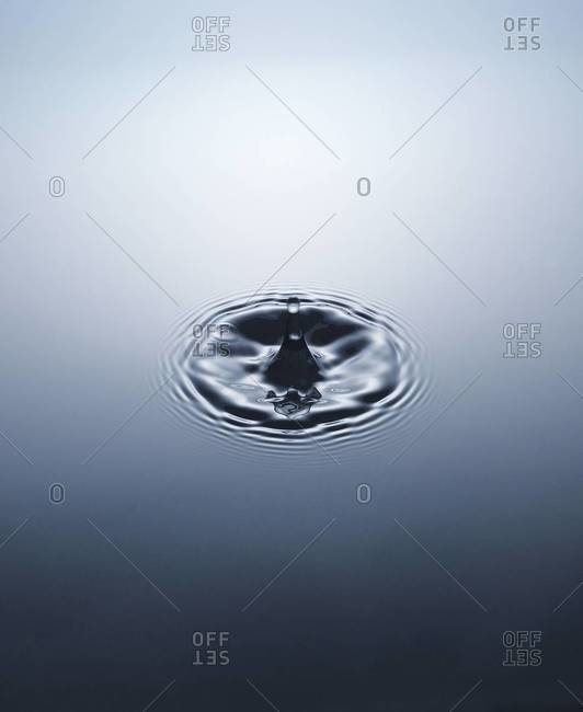 Close up of water drop splash