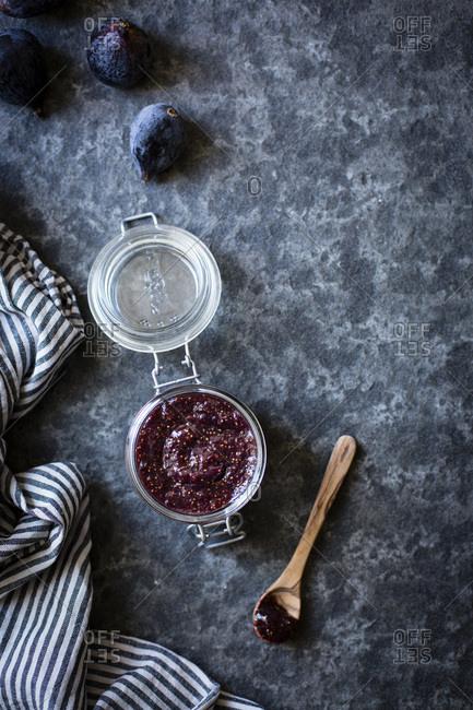 Jar of Black Mission fig preserves