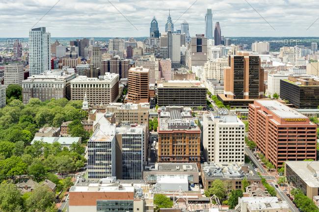 May 13, 2015: Skyscrapers on the Philadelphia skyline