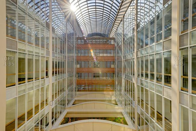 Atrium in a modern office building