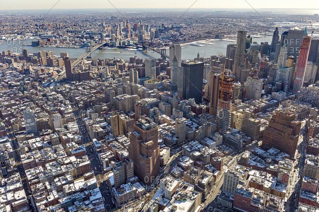 Manhattan skyline facing the East River