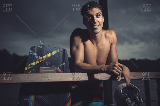 Portrait of young wakeboarder