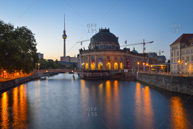 Bode Museum and TV Tower at dawn
