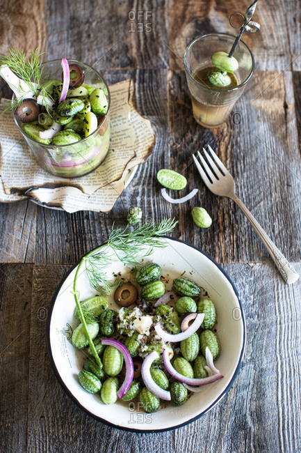 Marinated mouse melon salad
