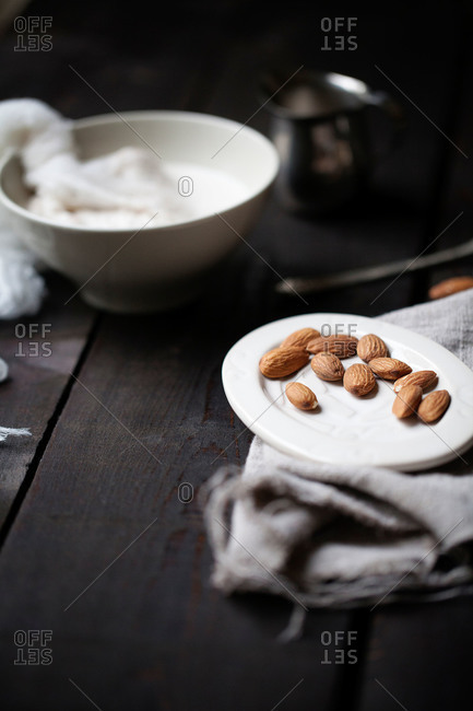 Almonds used to make almond milk