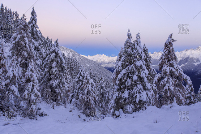The autumn snowy landscape, Casera Lake, Livrio Valley, Orobie Alps, Valtellina, Lombardy, Italy, Europe
