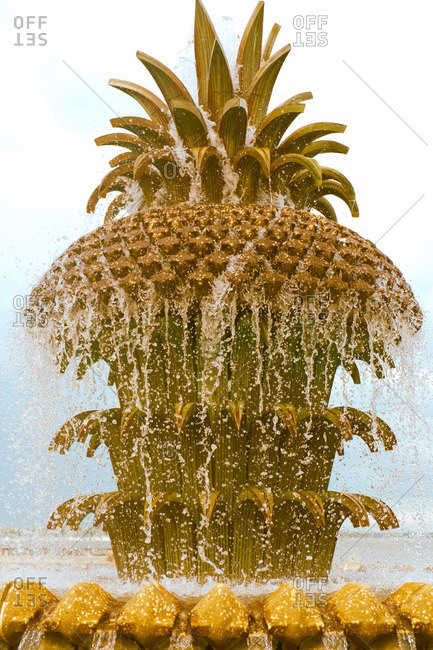 Pineapple Fountain at the waterfront in Charleston, South Carolina