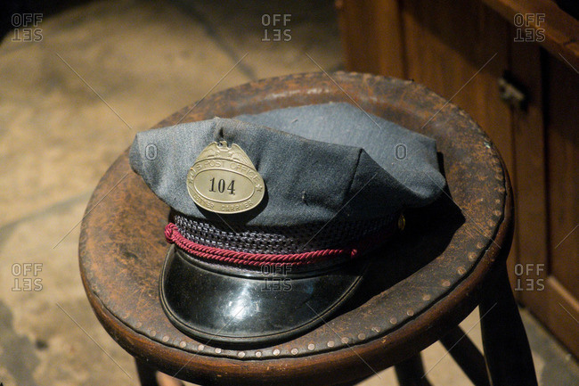 Historic letter carrier cap in Charleston, South Carolina