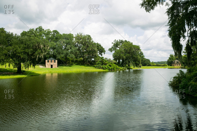 Mt. Pleasant, South Carolina - August 28, 2015: Homestead and waterfront at Middleton Plantation in Mt. Pleasant, South Carolina
