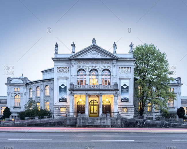 Munich, Germany - April 7, 2014: Prince Regent Theater at dusk in Munich, Germany