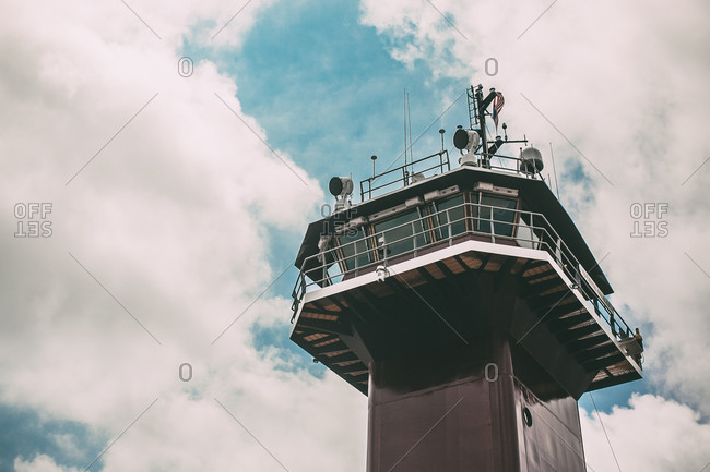Top of a radio control tower