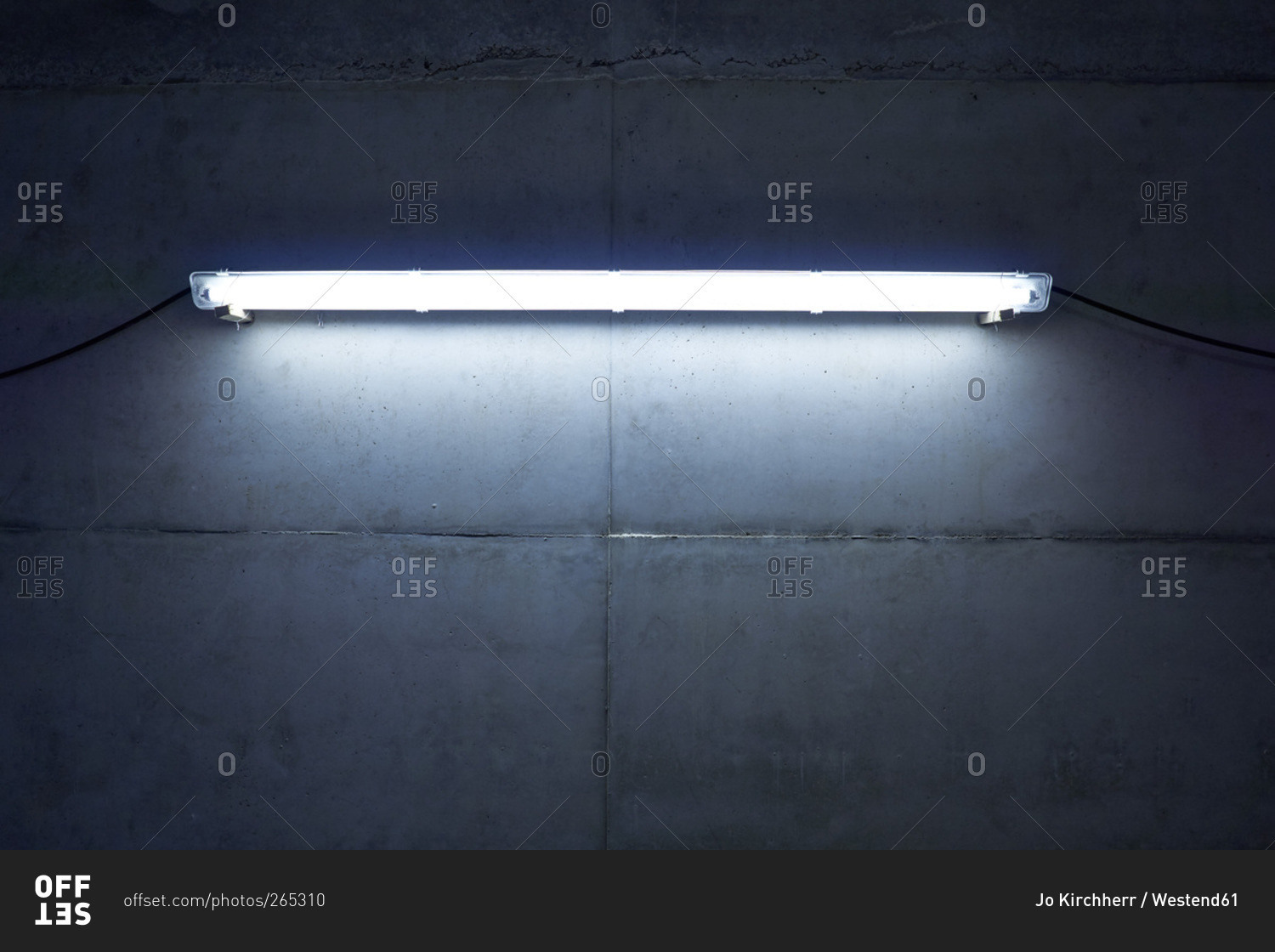 Neon light at concrete wall stock photo offset aloadofball Images