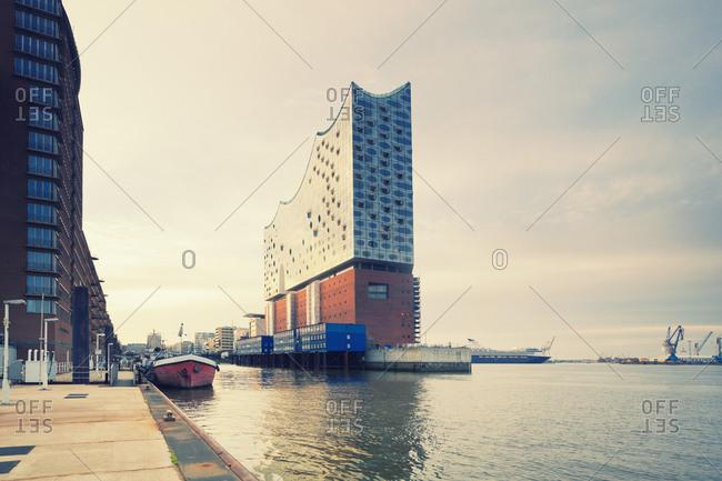 Hamburg, Germany - August 8, 2015: Elbphilharmonie, Hamburg