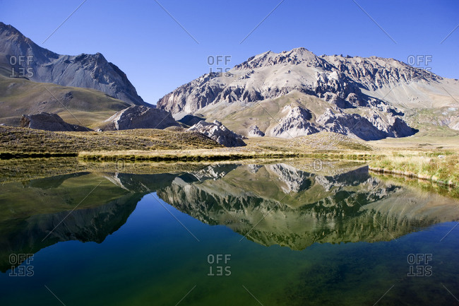 Mountain lake in Argentina - Offset