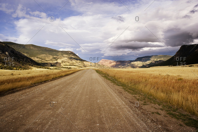 Dirt road in remote Wyoming