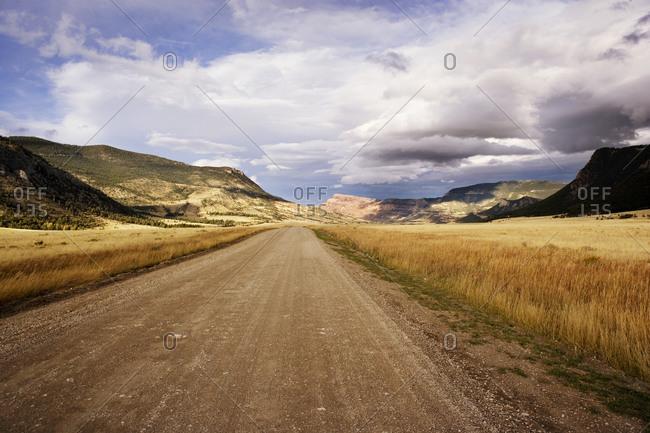Dirt road in remote Wyoming