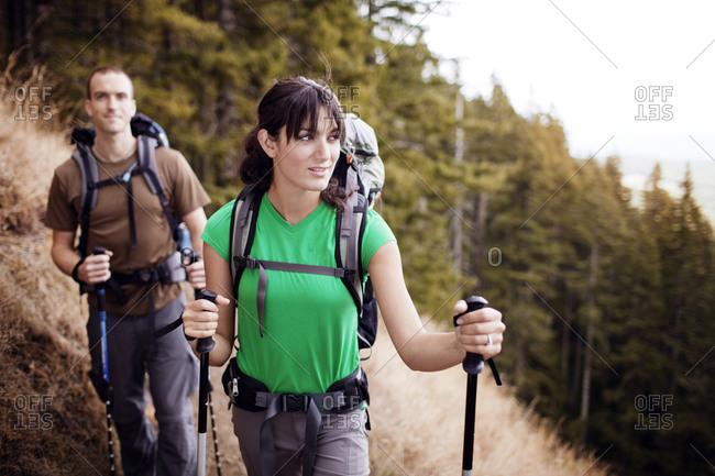 Couple hiking in Oregon