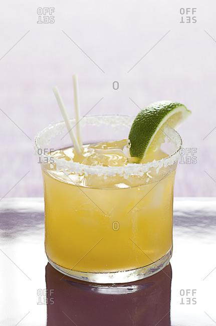Margarita on the rocks in tumbler