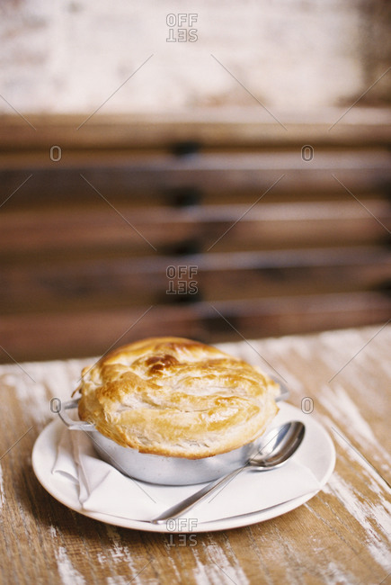 Celery root pot pie