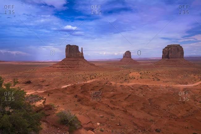 Sandstone Rock Formations, Monument Valley, Monument Valley Navajo Tribal Park, Arizona, USA