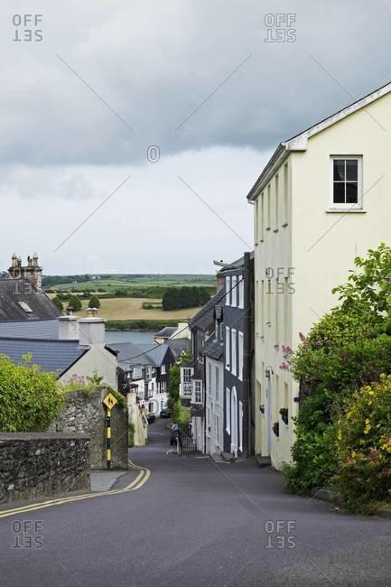 Street scene of fishing town of Kinsale, Republic of Ireland