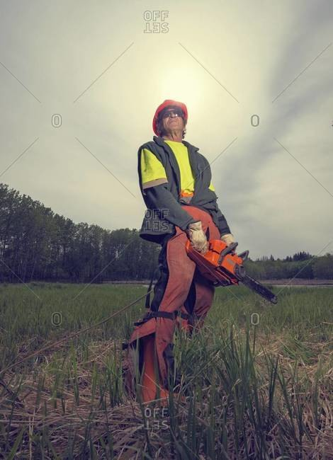 Portrait of maintenance worker, Saskatchewan, Canada